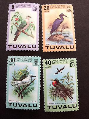 Tuvalu    Wild bird of Tuvalu complete set mint never hinged