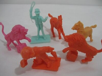 R & L Cereal Toys  Stars Of The Big Top X 6 Lions Horse Clown Ringmaster