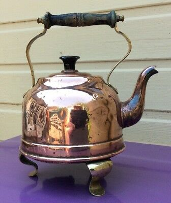 Rare Old Copper & Brass Electric Kettle 220v 600w