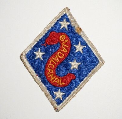 2nd Marine Division Guadalcanal USMC Patch WWII P7516