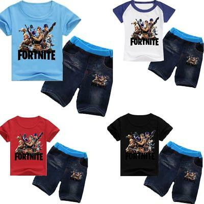 Fortnite Gaming Battle Royale kids T-shirts Tops tshirts + trouser Pants Jeans