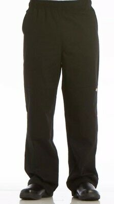 Dickies Chef Pants Black Drawstring Waist .....SZ Medium  M