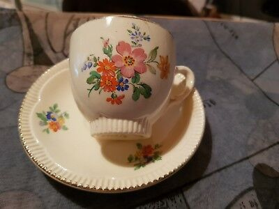 VINTAGE DUO CLARICE CLIFFE NEWPORT POTTERY PATTERN No 840076
