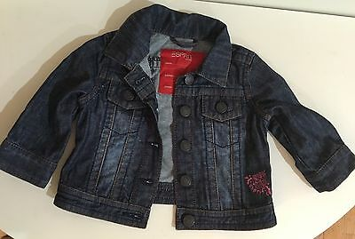 AS NEW ESPRIT Baby Girl DENIM JACKET Sz 3 months ~ Very Cute STYLISH