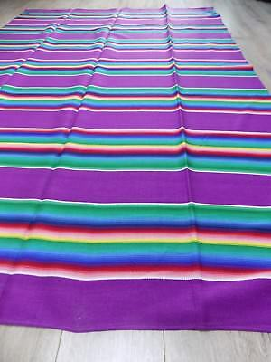 Vintage Rainbow handwoven Cotton Plaid Rug 1960s Ukraine 1,4x2m NEVER USED