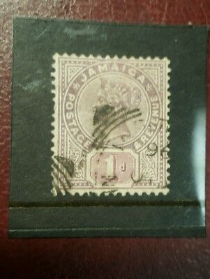stamp - jamaica  1889  early issie fine used  - 1d -  Lot 785