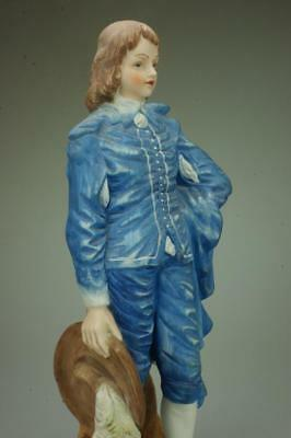 Porcelain Blue Boy Made in Taiwan Figurine Gainsborough Painting Style KC316