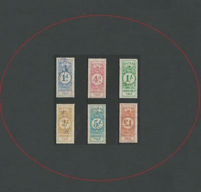 WESTERN AUSTRALIA 1932-33 1d TO £1 FINANCIAL EMERGENCY TAX (6) VERY CLEAN
