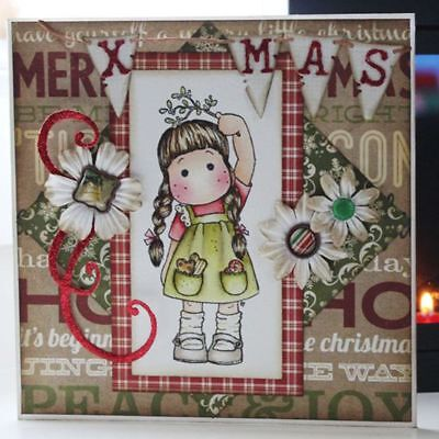 Album Decor Cards Paper Scrapbooking Cutting Dies Stencils Girl Clear Stamps