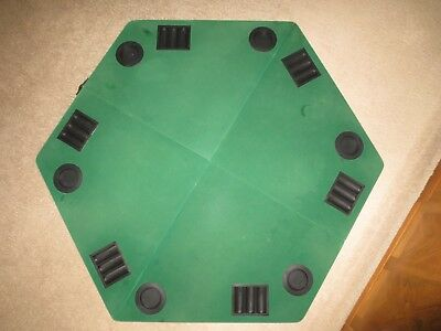 "Marlboro 48"" Table Top Poker Table & Carry Case Green Felt Cup Chip Holders"
