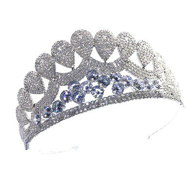 Bridal Pageant Princess Tiara Headband Crown Bride Headpiece with Rhinestone