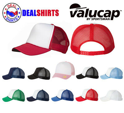 1eb2cf2468b16 VALUCAP FOAM TRUCKER Cap VC700 Structured Mesh Baseball Hat NEW ...