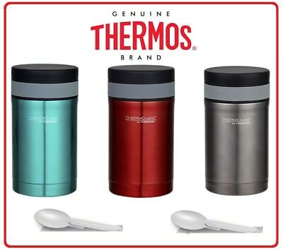 ❤ Thermos STAINLESS STEEL Vacuum Insulated Food Jar Container 500ml With Spoon ❤