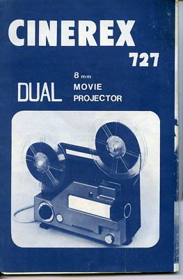 Cinerex 727 Dual Film Movie Projector Instructions