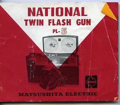 National Twin Flash Gun Pl-5 Instructions