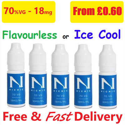 Nicotine Shots 18mg/ml NicNic Nic Shots 70%VG 10ml - TPD - Cloud Chaser Premium