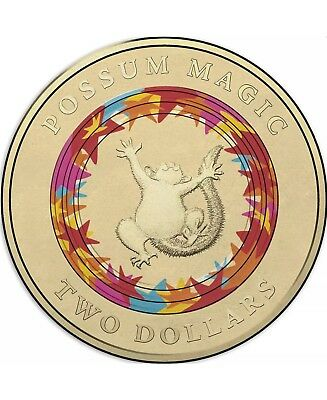 """2017 Possum Magic $2 Uncirculated Coin - Wk 3 """"Happy Hush"""" (with Coin Protector)"""