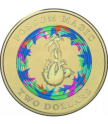 """2017 Possum Magic $2 Uncirculated Coin - Wk 1 """"Invisible"""" (with Coin Protector)"""