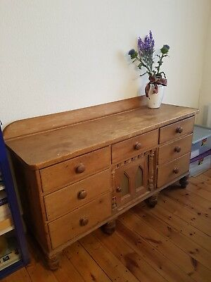 Large Antique Pine Kitchen Sideboard/Dresser
