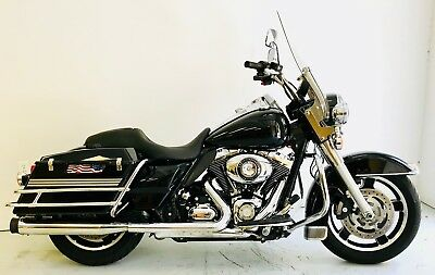 2013 Harley-Davidson Touring  2013 Harley Davidson Road King Police FLHP Black 103 CI 6-Speed 21K miles CLEAN