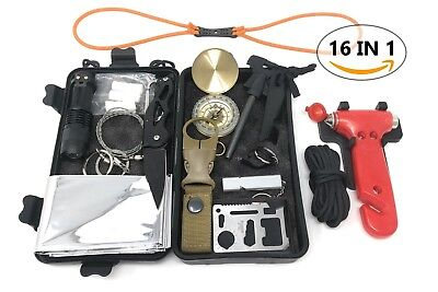 Emergency survival kit backpack outdoor camping Tactical Hiking Gear first aid