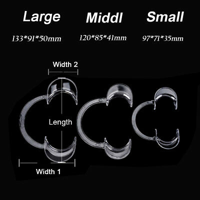 10pcs Clear Dental Teeth Whitening Cheek Retractor Mouth Opener C Type Large