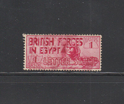 British Forces in Egypt 1934 1p carmine mint - no gum - priced accordingly