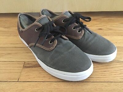 a0aaa77b98 VANS OFF THE Wall Madero C L Magnet Leather Canvas Brown Gray Shoes Mens 7  -  30.00