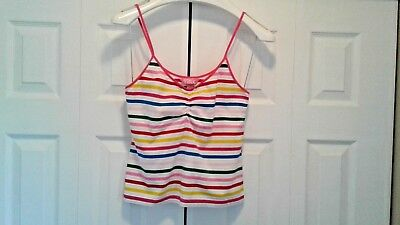 Women's Victoria's Secret Cami Size Large Striped Pink