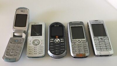 5 x Vintage Mobile Phones for Spares or Repair - Lot 2