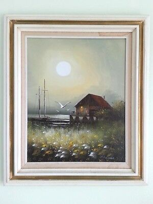 """ORIGINAL  PAINTING  SIGNED BY ARTIST P. SADOCE ?? 28"""" x 23"""" WITH FRAME"""