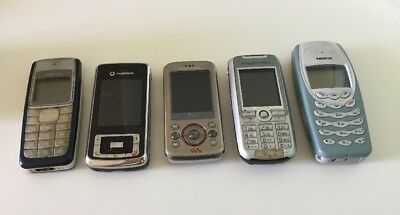5 x Vintage Mobile Phones for Spares or Repair - Lot 4