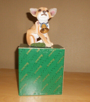Chihuahua Pup with Bell Figure by Living Stone