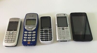 5 x Vintage Mobile Phones for Spares or Repair - Lot 6