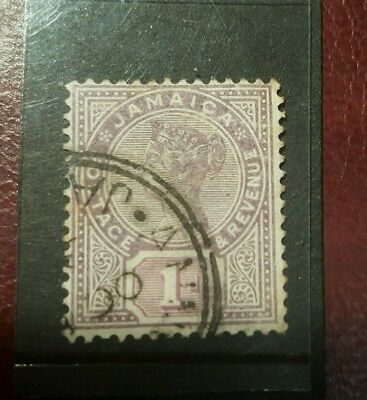 stamp - jamaica  1889  early issie fine used  - 1d -  Lot 787