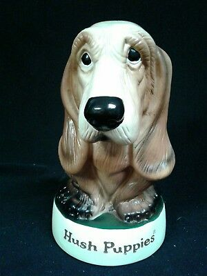 Vintage Style Hush Puppies Shoe Company Basset Hound Dog Hard Vinyl Coin Bank 8""