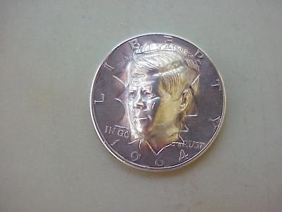 Pop Out Repousse 1964 SILVER Kennedy Half Dollar Coin JFK HEAD BURSTING OUT
