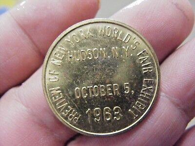 Sinclair Dinoland/new York's World Fair 1963 Souvenir Token: Hudson, Ny