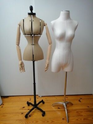 3 Female Mannequin Forms Available ~ Wooden Arms (Used) Or Cloth Body (New)