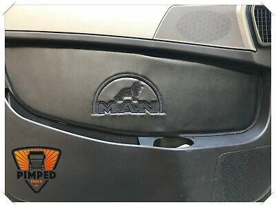 Door cards MAN TGX ECO LEATHER smooth + black lion and MAN