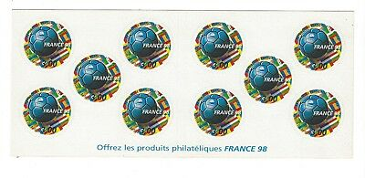 Carnet De Timbres France 98 Coupe Du Monde De Foot