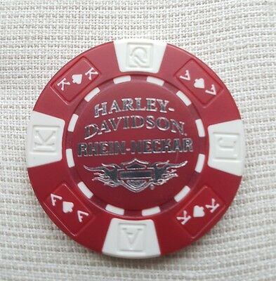 "Neues Logo""1 originaler Harley Davidson Pokerchips "" Rhein-Neckar Ludw  Germany"""