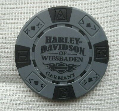 "1 originaler Harley Davidson Pokerchips ""Wiesbaden Germany  """