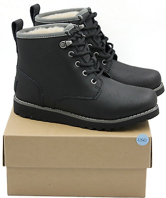9157f5d618f UGG MAPLE II Kid's Waterproof Genuine Leather Boots - Black - NEW Authentic