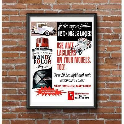 AMT Model Car Lacquer Spray Paint Poster - 1962 Ala Kart Barris Troy Michigan