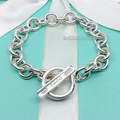 0f2c458fd Tiffany & Co. 1837 Toggle Clasp Round Charm Bracelet 925 Sterling Silver