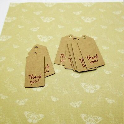 10 Small Premium Card Vintage Style Any Occasion Thank You Gift Tags