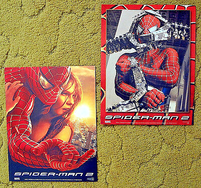 """for 2004 release of --- """"SPIDERMAN 2"""" --- mint & unused set -- of 10 Lobby Cards"""