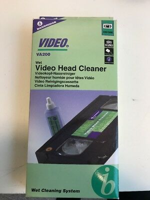 Bandridge Video Va200 Wet Video Head Cleaning Tape New
