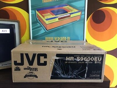 JVC HR-S9600 - With Remote & Manual - Super VHS Dynamic Drum System TBC (BOXED)